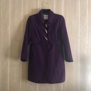 Old Navy Small Wool Blend Toggle Button Long Coat